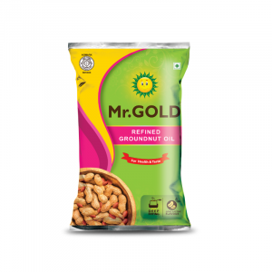 Mr.Gold Groundnut Oil Pouch, 1 L