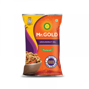 Mr.Gold Refined Groundnut Oil Pouch, 1 L
