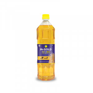 Mr. Gold Refined Rice Bran Oil Pet, 1 L