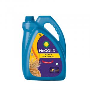 Mr. Gold Refined Rice Bran Oil Can, 5 L