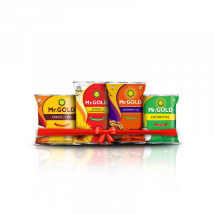 Mr. Gold All in one Mini Combo (Refined Sunflower Oil 1L, Filtered Groundnut Oil 1L, Gingelly Oil 500ml, Coconut Oil 500ml) - Total 3L