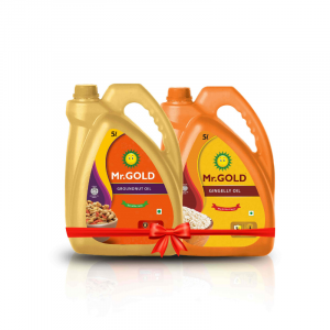 Mr.Gold Healthy Duo Combo Pack ( Filtered Groundnut Oil 5L + Gingelly / Sesame Oil 5L)